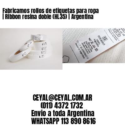 Fabricamos rollos de etiquetas para ropa | Ribbon resina doble (HL35) | Argentina