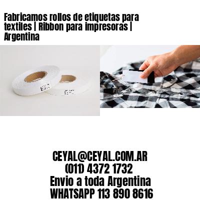 Fabricamos rollos de etiquetas para textiles | Ribbon para impresoras | Argentina