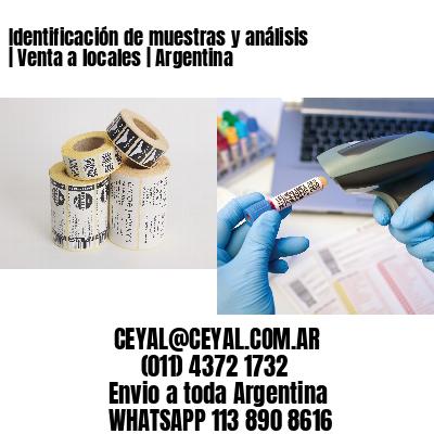 Identificación de muestras y análisis   Venta a locales   Argentina
