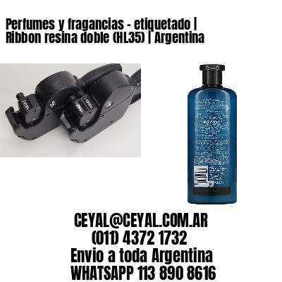 Perfumes y fragancias - etiquetado | Ribbon resina doble (HL35) | Argentina