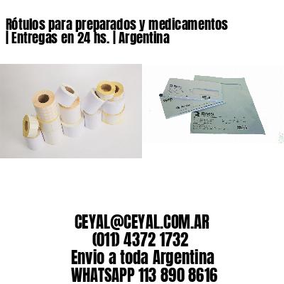 Rótulos para preparados y medicamentos   Entregas en 24 hs.   Argentina