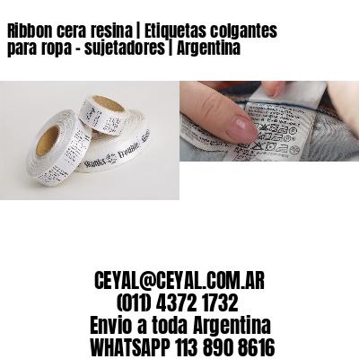 Ribbon cera resina | Etiquetas colgantes para ropa - sujetadores | Argentina