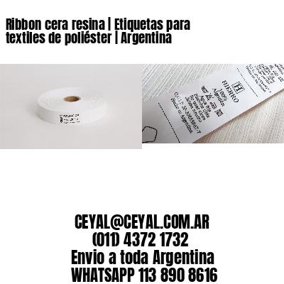 Ribbon cera resina   Etiquetas para textiles de poliéster   Argentina