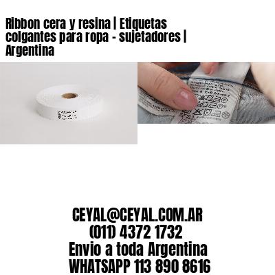 Ribbon cera y resina | Etiquetas colgantes para ropa - sujetadores | Argentina