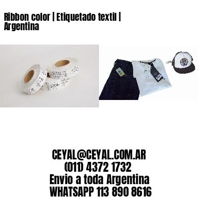 Ribbon color | Etiquetado textil | Argentina
