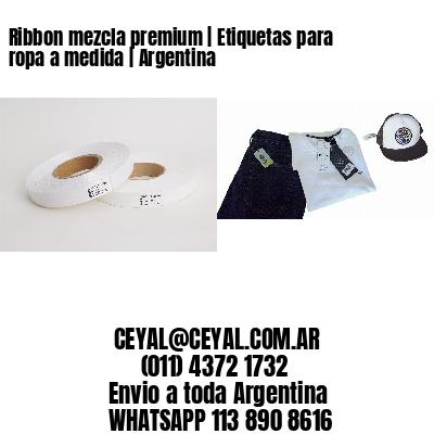 Ribbon mezcla premium | Etiquetas para ropa a medida | Argentina