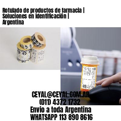 Rotulado de productos de farmacia   Soluciones en identificación   Argentina