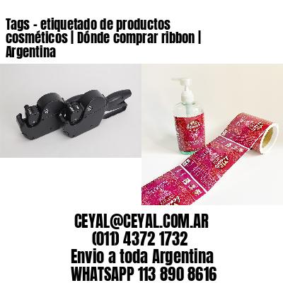 Tags - etiquetado de productos cosméticos   Dónde comprar ribbon   Argentina