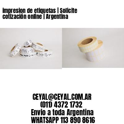 impresion de etiquetas | Solicite cotización online | Argentina